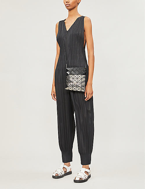 PLEATS PLEASE ISSEY MIYAKE V-neck pleated jumpsuit