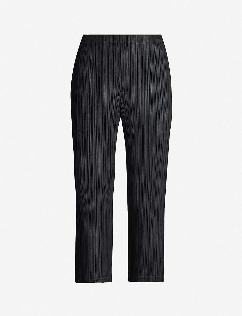f20798e97c PLEATS PLEASE ISSEY MIYAKE - Cropped high-rise pleated crepe trousers |  Selfridges.com
