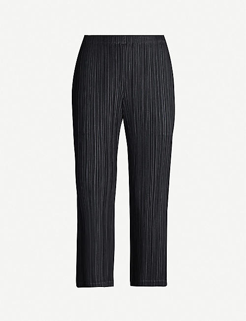 a350cb4b941877 PLEATS PLEASE ISSEY MIYAKE Cropped high-rise pleated crepe trousers