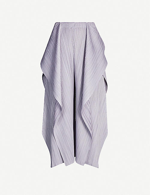 PLEATS PLEASE ISSEY MIYAKE Asymmetric draped pleated woven trousers