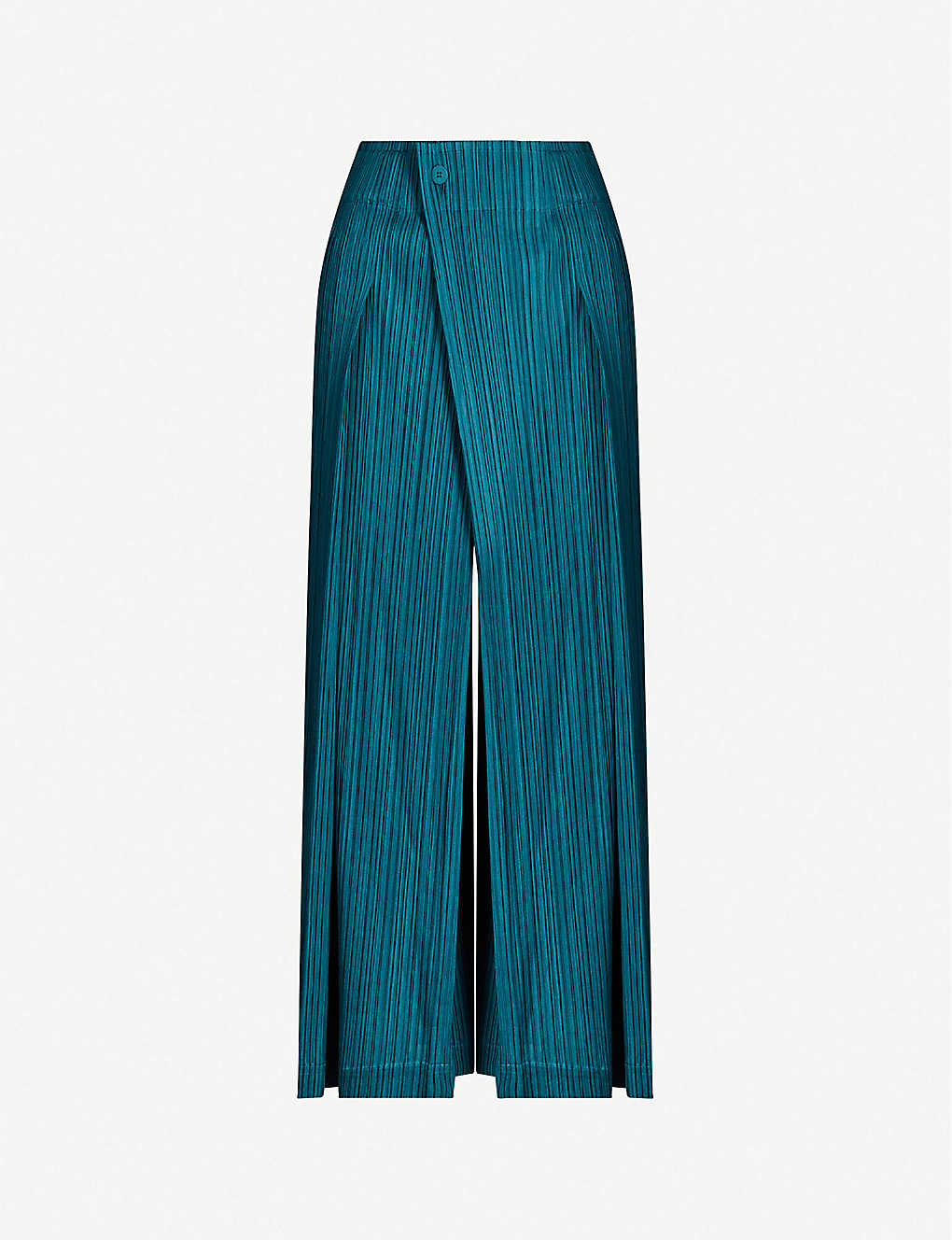 PLEATS PLEASE ISSEY MIYAKE: Mannish high-rise pleated woven trousers
