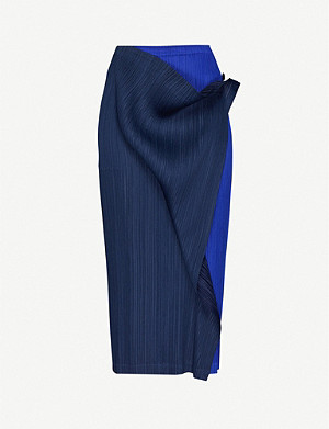 PLEATS PLEASE ISSEY MIYAKE Pleated woven crepe skirt