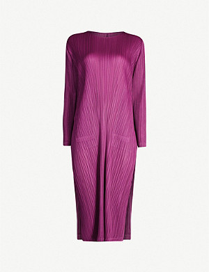 PLEATS PLEASE ISSEY MIYAKE Pleated long-sleeved woven dress