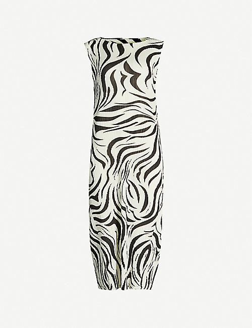 PLEATS PLEASE ISSEY MIYAKE Aroma abstract-pattern pleated dress