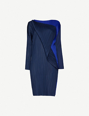 PLEATS PLEASE ISSEY MIYAKE Hidden Colors pleated woven mini dress