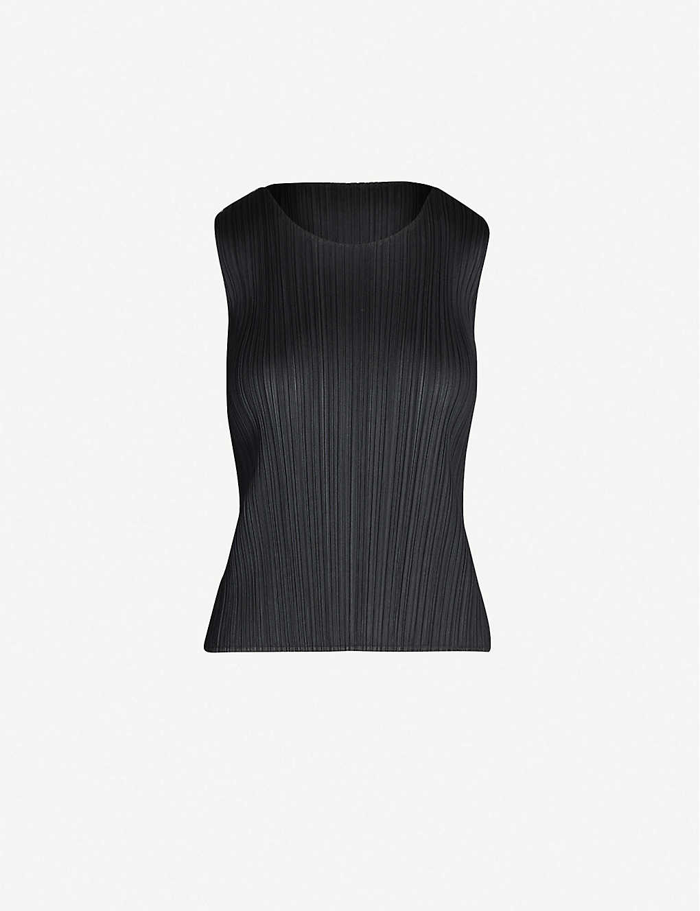 PLEATS PLEASE ISSEY MIYAKE: Basics sleeveless satin pleated top