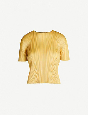 PLEATS PLEASE ISSEY MIYAKE High-neck pleated T-shirt