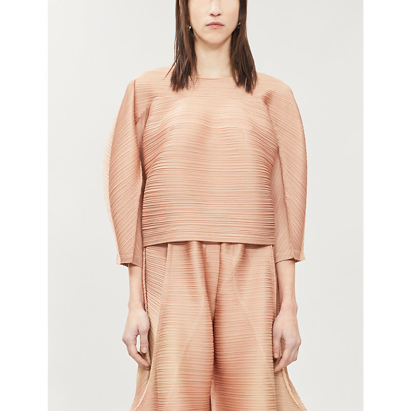 Pleats Please Issey Miyake Tops BOUNCE WOVEN PLEATED TOP