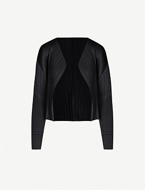 PLEATS PLEASE ISSEY MIYAKE Basics long-sleeved satin pleated jacket
