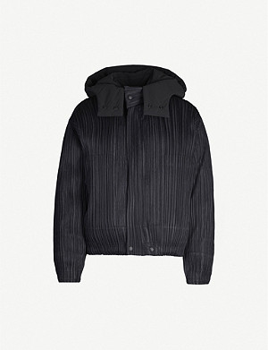 PLEATS PLEASE ISSEY MIYAKE Pleated hooded puffer jacket