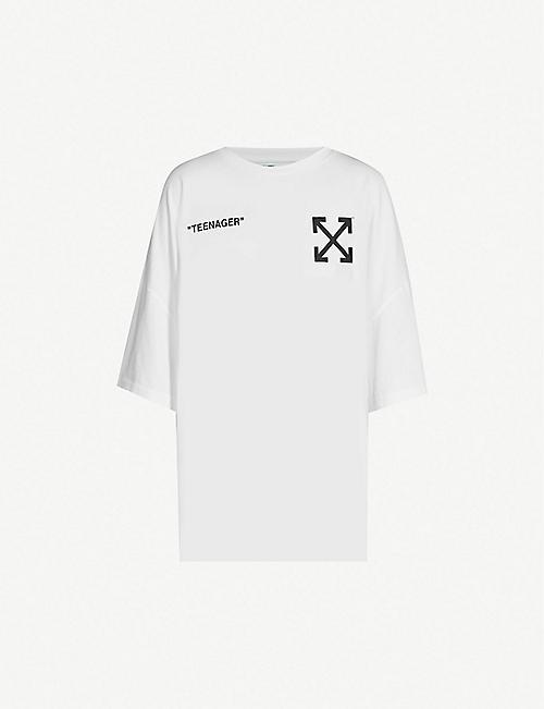 93f24c925f16 OFF-WHITE C O VIRGIL ABLOH Bart Simpson Mega cotton T-shirt