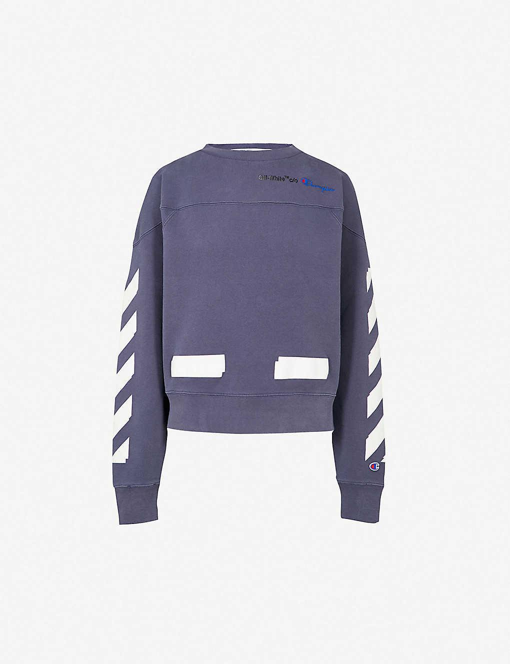 ea3dd840cc73 OFF-WHITE C O VIRGIL ABLOH - Champion cotton-blend sweatshirt ...