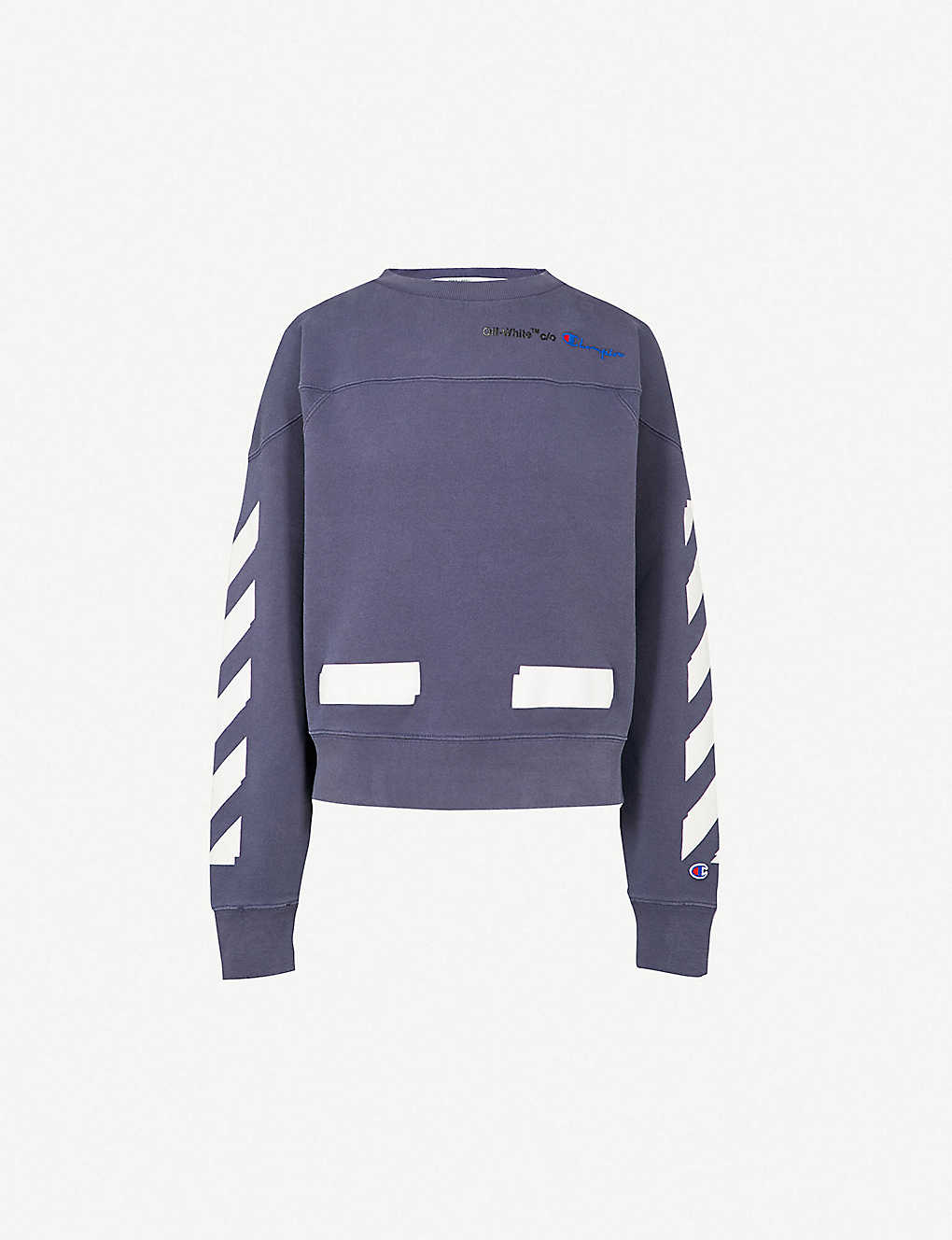 bb3768ab OFF-WHITE C/O VIRGIL ABLOH - Champion cotton-blend sweatshirt ...