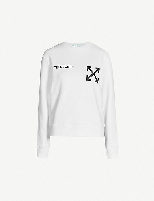 OFF-WHITE C O VIRGIL ABLOH Bart Simpson cotton sweatshirt 9b11a36b95