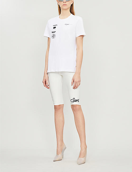 OFF-WHITE C/O VIRGIL ABLOH Logo-print cotton-jersey T-shirt