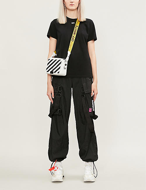 OFF-WHITE C/O VIRGIL ABLOH Floral arrow-print cotton-jersey T-shirt