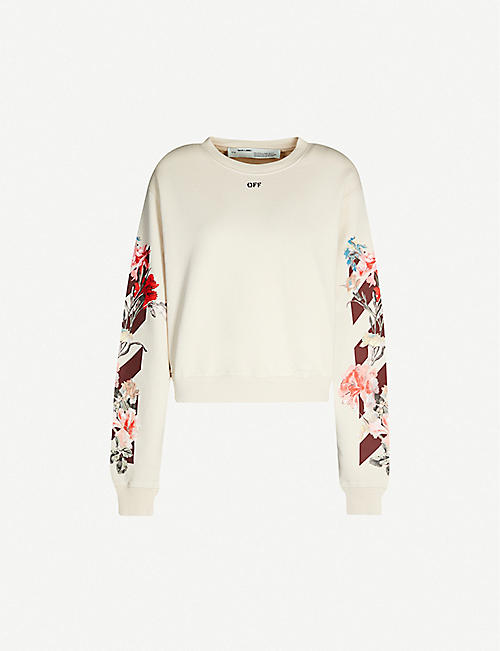 OFF-WHITE C/O VIRGIL ABLOH Floral-print cotton-jersey jumper
