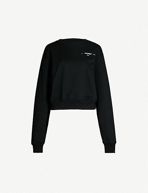 OFF-WHITE C/O VIRGIL ABLOH Leaves arrows cropcrewneck