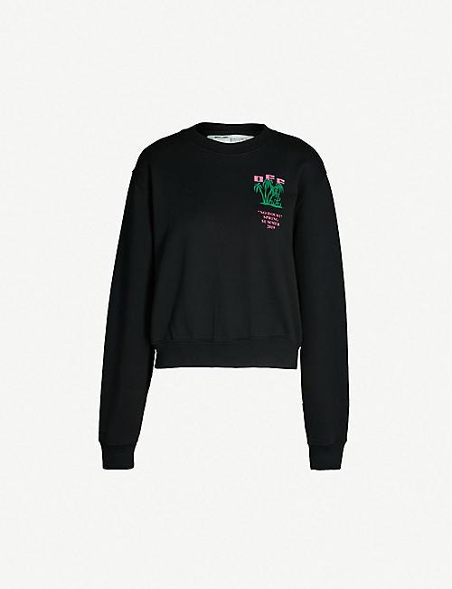 09219a387367 OFF-WHITE C O VIRGIL ABLOH Island cotton-blend sweatshirt