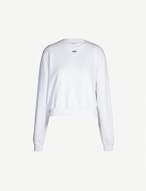 7186177d0170 OFF-WHITE C O VIRGIL ABLOH Logo-detail cotton sweatshirt