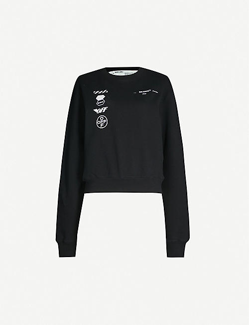 115472bad45fc5 OFF-WHITE C/O VIRGIL ABLOH Logo-print cotton-jersey sweatshirt