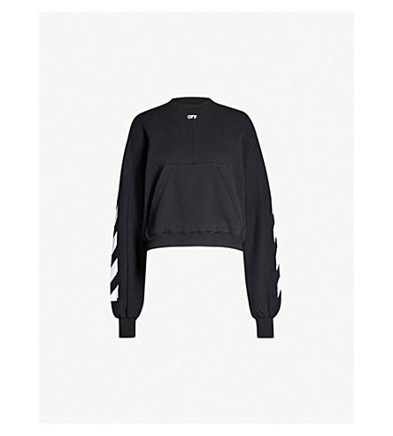 8c4b72974ccd OFF-WHITE C O VIRGIL ABLOH - Logo-print cotton-blend sweatshirt ...