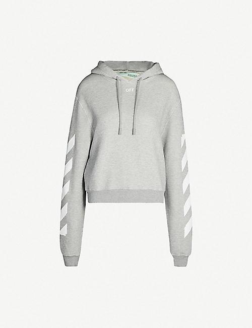 f7e5740c24d OFF-WHITE C O VIRGIL ABLOH Logo-print cotton-blend hoody