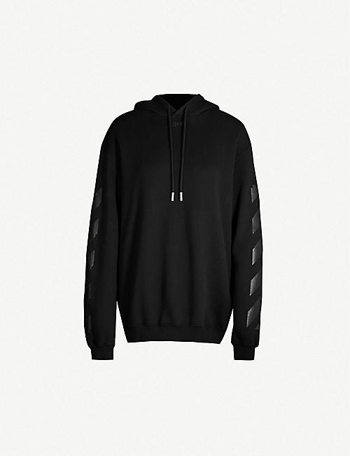 76cdcd999dd OFF-WHITE C O VIRGIL ABLOH Logo-print cotton-jersey hoody
