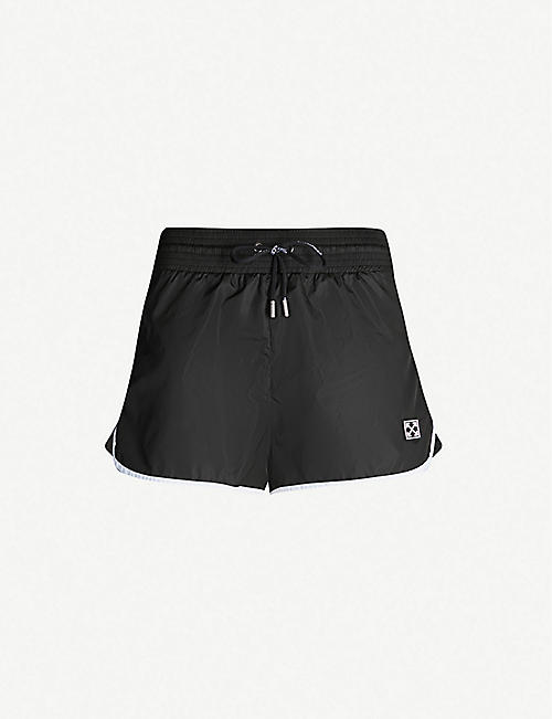OFF-WHITE C/O VIRGIL ABLOH Boxing logo-patch woven shorts