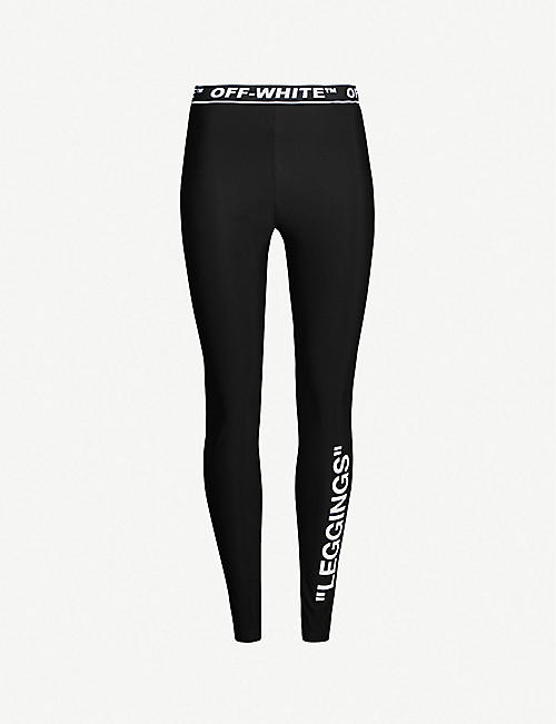 ceb564a869dd OFF-WHITE C O VIRGIL ABLOH Leggings-print stretch leggings