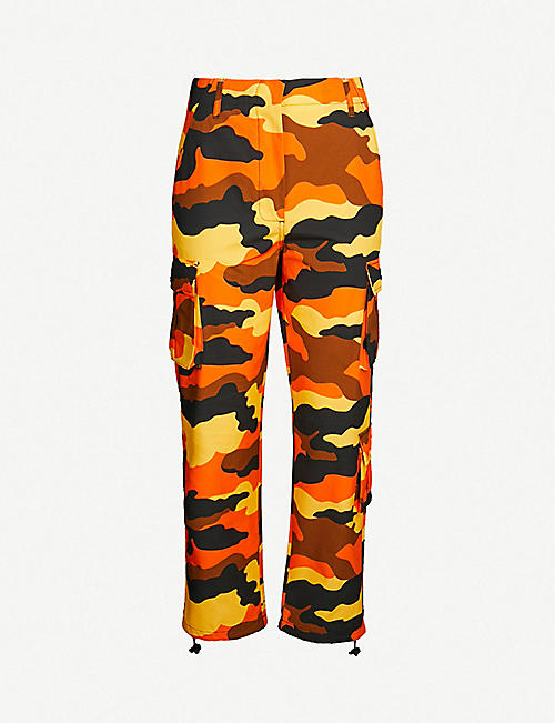 d1ea69392494 OFF-WHITE C O VIRGIL ABLOH Camouflage-print high-rise straight cotton