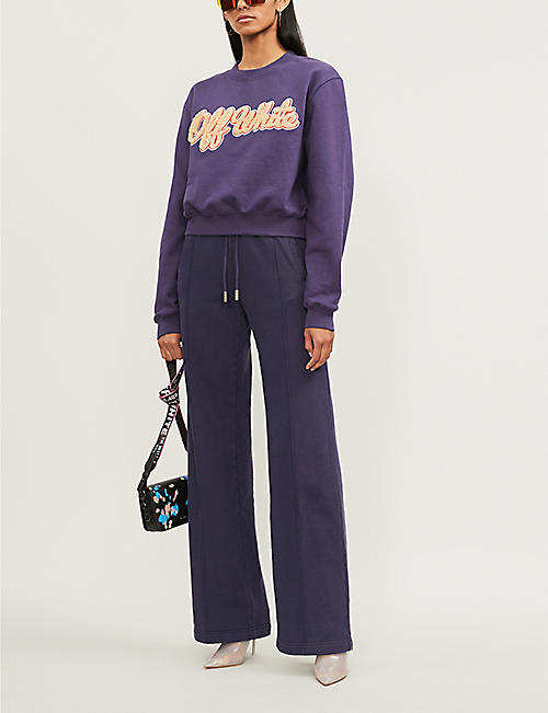 OFF-WHITE C/O VIRGIL ABLOH Striped cotton-jersey jogging bottoms