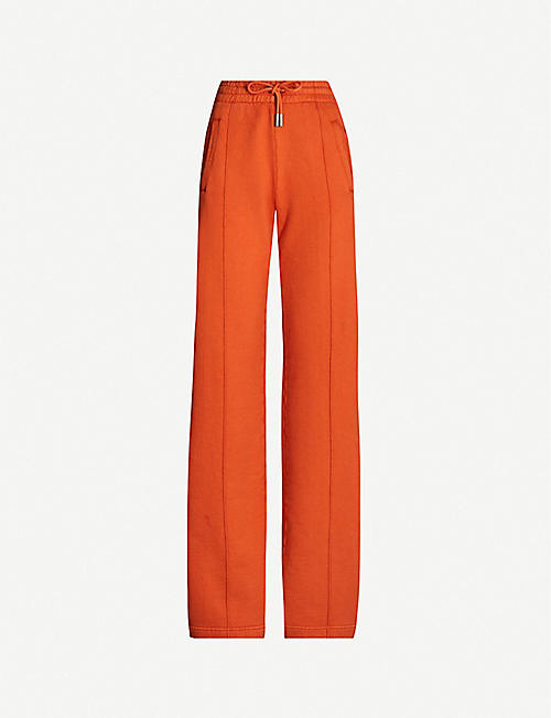 897cdcaa3f5a OFF-WHITE C/O VIRGIL ABLOH Diagonal-striped cotton-jersey jogging bottoms