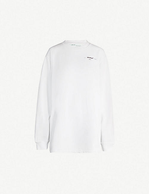 OFF-WHITE C/O VIRGIL ABLOH Hanna cotton-jersey sweatshirt