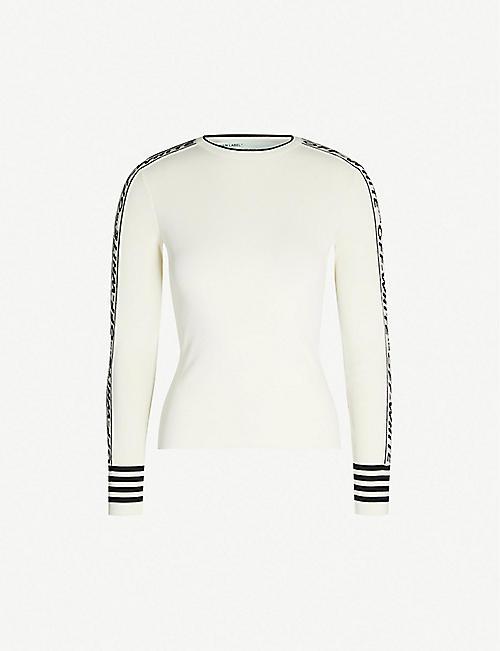 0ea516822ea2ea OFF-WHITE C O VIRGIL ABLOH Tennis two-tone knitted top