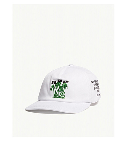 f7ca9c7891a ... OFF-WHITE C O VIRGIL ABLOH Island cotton baseball cap (White.  PreviousNext