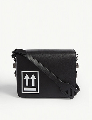 OFF-WHITE C/O VIRGIL ABLOH Logo-print leather shoulder bag