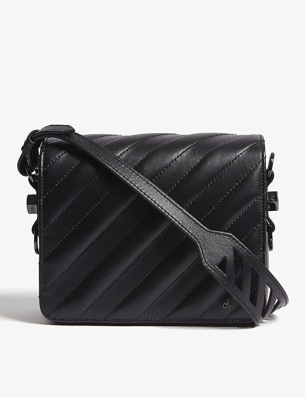 1d409ac17c3ee7 OFF-WHITE C/O VIRGIL ABLOH - Quilted binder clip leather shoulder ...