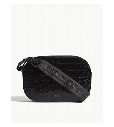 8b0bdc603d OFF-WHITE C O VIRGIL ABLOH Croc-embossed camera bag (Black