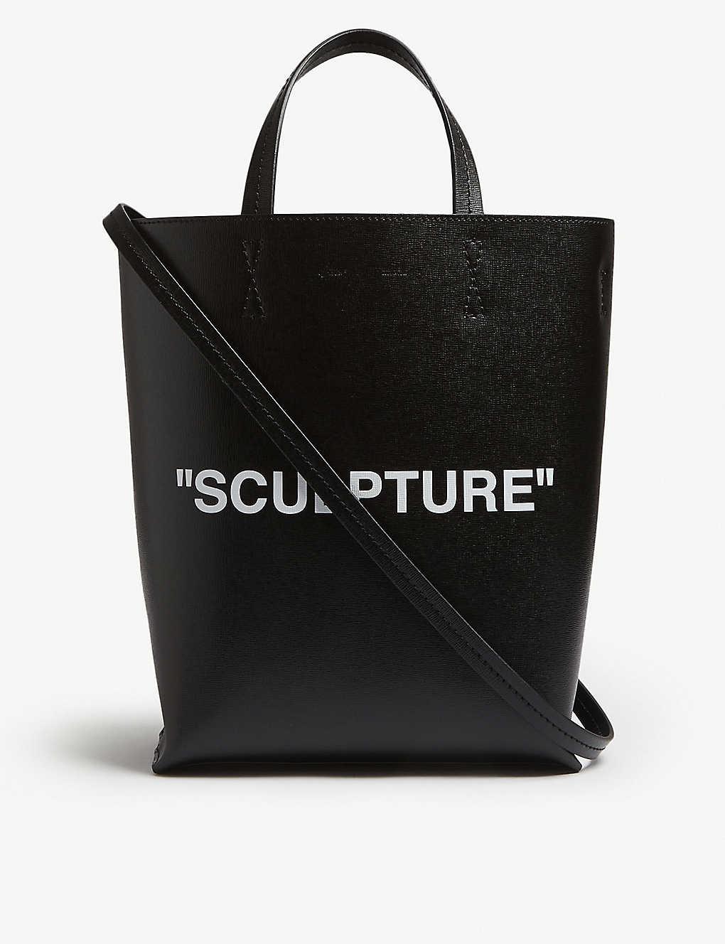 a3da0b2d4348 OFF-WHITE C/O VIRGIL ABLOH - Sculpture medium leather bucket bag ...