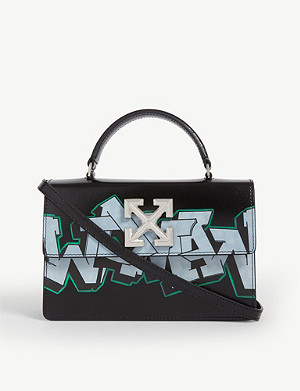 OFF-WHITE C/O VIRGIL ABLOH Jitney 1.4 leather graffiti shoulder bag