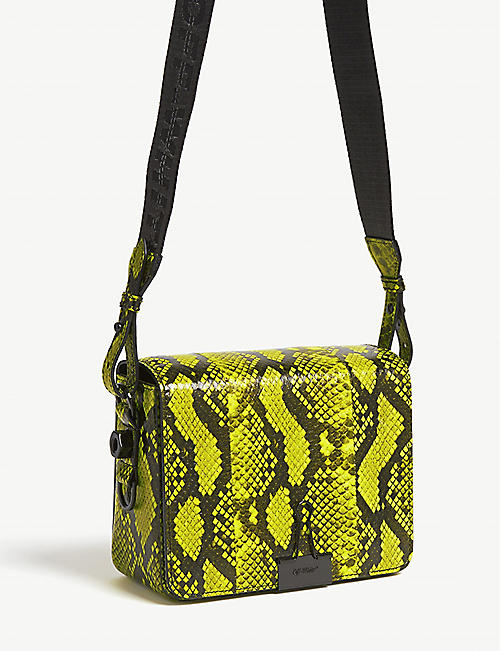 f534132215bc3 OFF-WHITE C O VIRGIL ABLOH Python-embossed leather shoulder bag
