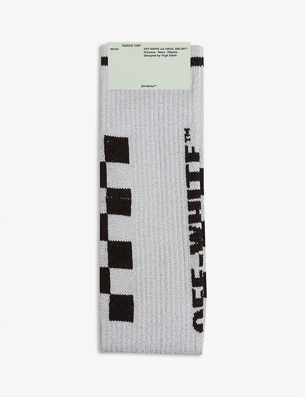 a8ce945277f OFF-WHITE C O VIRGIL ABLOH - Taxi metallic long socks