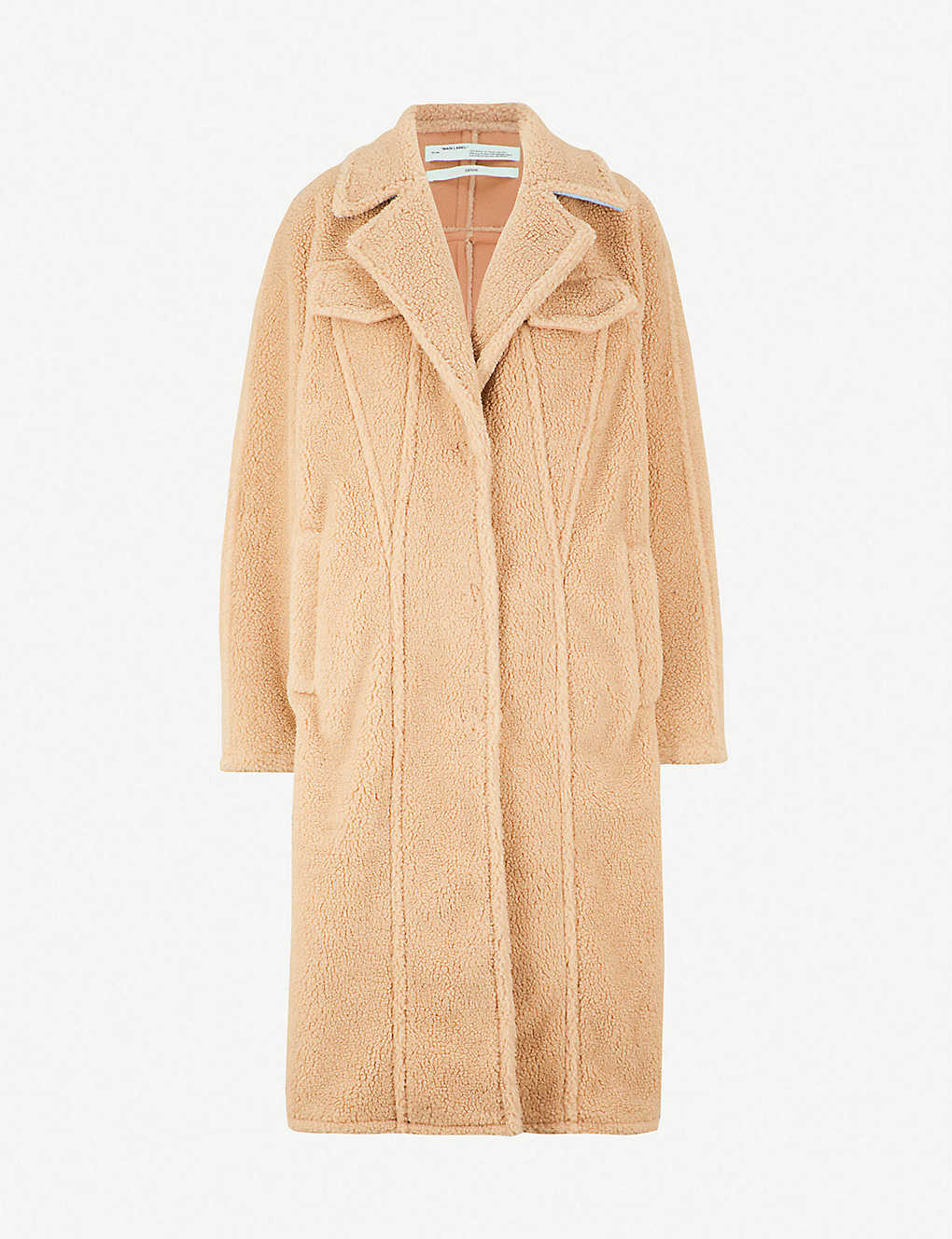 c1049b5751a4 OFF-WHITE C O VIRGIL ABLOH - Textured faux-fur teddy coat ...