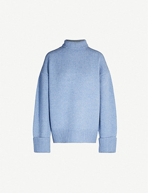 VICTORIA VICTORIA BECKHAM Turtleneck relaxed-fit wool jumper