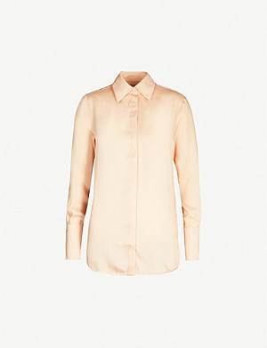 VICTORIA VICTORIA BECKHAM Loose-fit long-sleeved crepe shirt