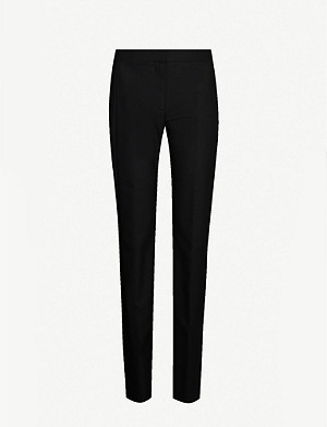 VICTORIA VICTORIA BECKHAM Flared high-rise woven trousers