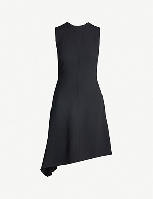 VICTORIA BECKHAM Asymmetric crepe mini dress