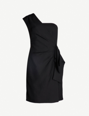 VICTORIA VICTORIA BECKHAM One-shoulder draped crepe dress