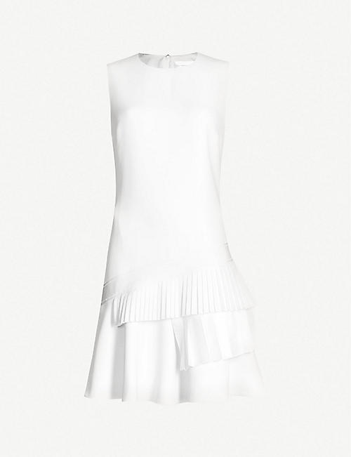 0d99e8a1f1 VICTORIA VICTORIA BECKHAM Asymmetric pleated-tier crepe dress